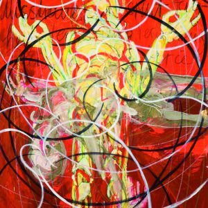 AWAKENING_LoveandHate_2008_oiltemperawoodgoldfoil_160x130