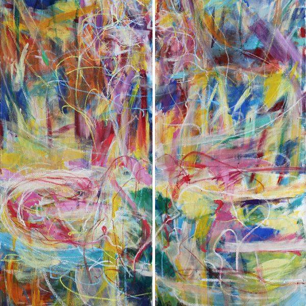Awakened2_oiltempera on canvas_210x70x2 Kopie
